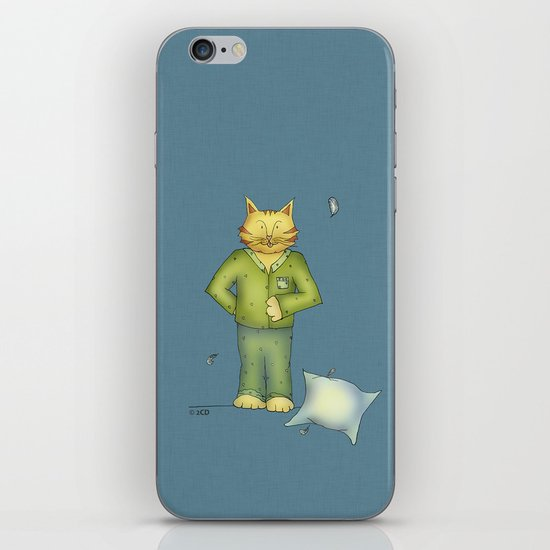 You are the cat's pajamas - blue iPhone & iPod Skin