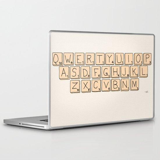Qwerty Scrabble  Laptop & iPad Skin