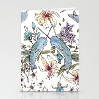 Narwhal Pattern Stationery Cards