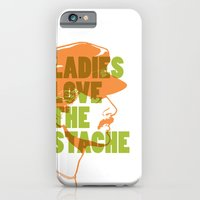 iPhone & iPod Case featuring Ladies Love the Mustache by Tuff Industries