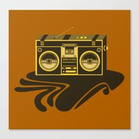 Radio Head Canvas Print
