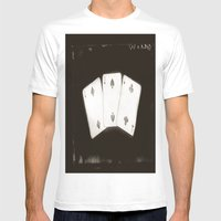 Cards Mens Fitted Tee White SMALL