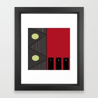 Living By Numbers Framed Art Print