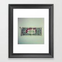 Get It Done Framed Art Print