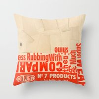 Less rubbing with DuPont Throw Pillow