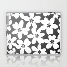 Grey Floral Laptop & iPad Skin