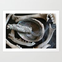 Sage and Bones Art Print