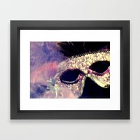 Mardi Gras Mask Framed Art Print
