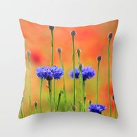 Sapphires and Rubies Throw Pillow