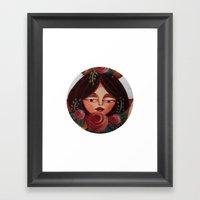 Blushing Beauty Framed Art Print