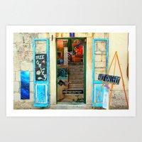 The Essence of Croatia -  Art Gallery in Makarska Art Print