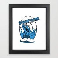 Brave Smurf Framed Art Print