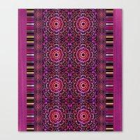Pink Denim Mandalas Canvas Print