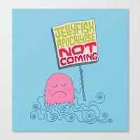 Jellyfish Apocalypse Not… Canvas Print