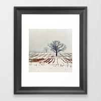 Winter Farm Framed Art Print