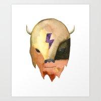 Cosmic Buffalo Art Print