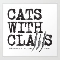 Cats With Claws Concert … Art Print