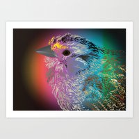 Rainbow Bird Art Print