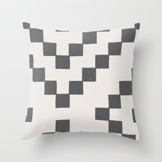 Tiles - in Charcoal Throw Pillow
