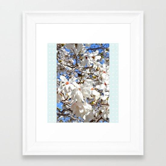 Spring Dogwoods Framed Art Print
