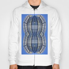 Abstract blue and glass Hoody