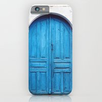 Vibrant Blue Greek Door to Whitewashed Home in Crete, Greece iPhone 6 Slim Case