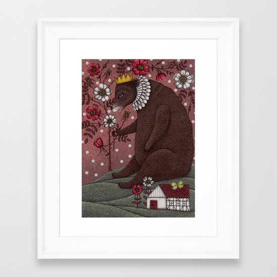 Snow-White and Rose-Red (2) Framed Art Print