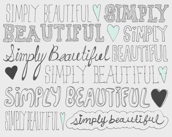 Simply Beautiful Art Print