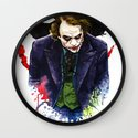 Angel Of Chaos (The Joker) Wall Clock