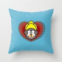 Indian Monkey God Icon Throw Pillow