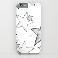 iPhone & iPod Case featuring BLACK STARS by Monika Strigel