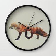 Norwegian Woods: The Fox Wall Clock