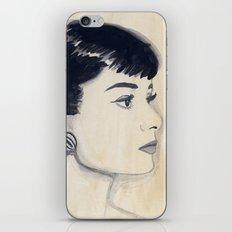 audrey (watercolor) iPhone & iPod Skin