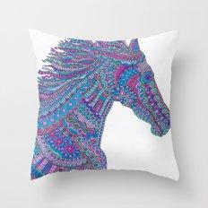 Technicolor Horse Throw Pillow