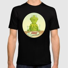 Kermit Loves Facon Mens Fitted Tee Black SMALL