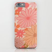 Retro Floral Sheets pink iPhone 6 Slim Case