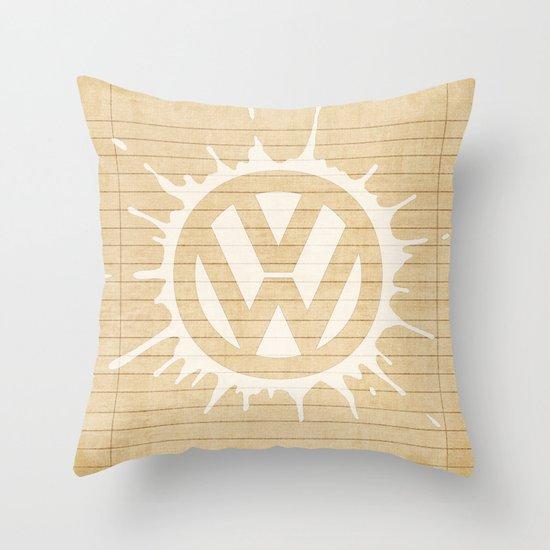 VW splat in white Throw Pillow