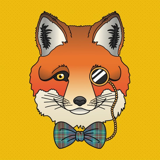 Dapper Fox Art Print