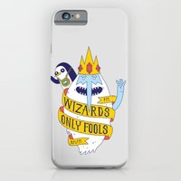 iPhone Cases featuring Wizards Only Fools by Wharton