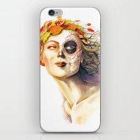 Lady Autumn iPhone & iPod Skin