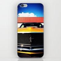 Orange Mustang  iPhone & iPod Skin