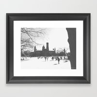 Smithsonian Castle Framed Art Print