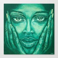 look at me-green Canvas Print