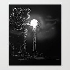 Drawn to the light Canvas Print