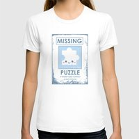 The Missing Puzzle Womens Fitted Tee White SMALL