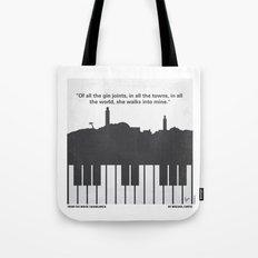 No192 My Casablanca minimal movie poster Tote Bag