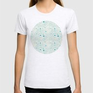 Blue Scribbles 04 Womens Fitted Tee Ash Grey MEDIUM