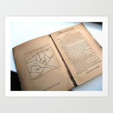 Message In A Book 5 Art Print