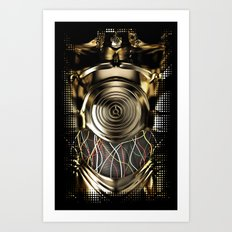 C-3PO Iphone protocol droid case. Art Print