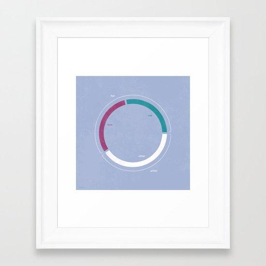 Love / War Framed Art Print